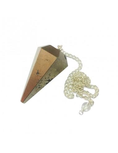 Pendule Pyrite Facette.